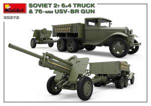 3D renders 35272 SOVIET 2T 6X4 TRUCK & 76-mm USV-BR GUN