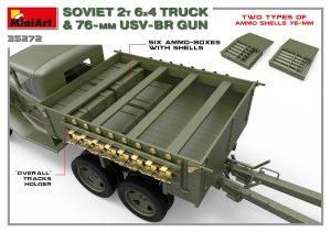 3D renders 35272 ソビエト2T 6X4トラック&76ミリ USV-BR砲