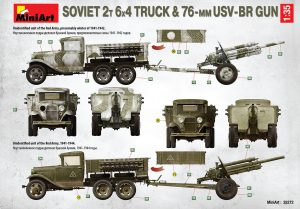 Side views 35272 SOVIET 2T 6X4 TRUCK & 76-mm USV-BR GUN