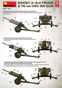 Side views 35272 SOVIET 2T 6X4 TRUCK & 76-mm USV-BR GUN