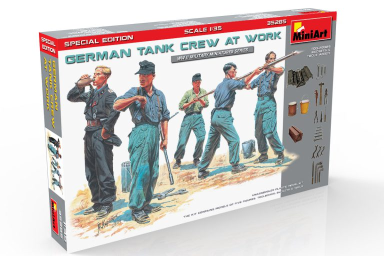 35285 GERMAN TANK CREW AT WORK. SPECIAL EDITION