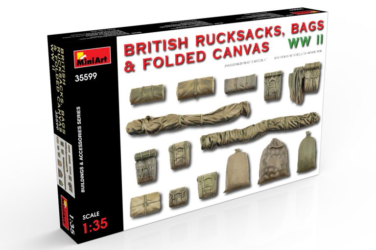 35599 BRITISH RUCKSACKS, BAGS & FOLDED CANVAS WW2