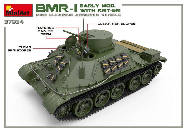 37034 BMR-1初期型KMT-5M地雷除去車
