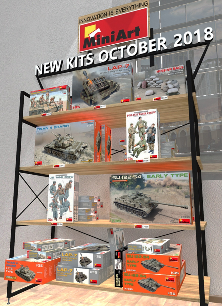 New MiniArt's Kits are Available October 2018