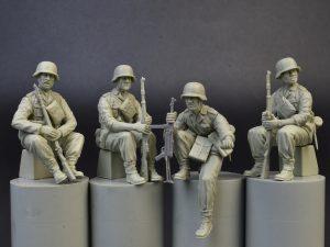 Photos 35248 ドイツ擲弾兵戦車部隊4体入