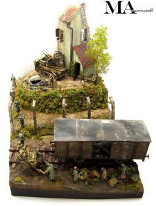 36021 DIORAMA w/NORMANDY HOUSE + MA Diorama