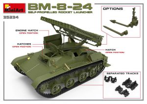 3D renders 35234 BM-8-24 SELF-PROPELLED ROCKET LAUNCHER