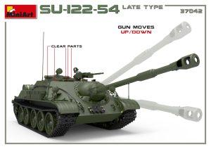 3D renders 37042 SU-122-54 spätes Modell