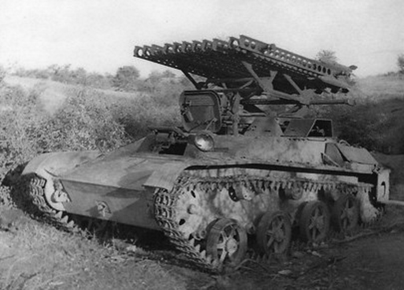 Historical photos collection: 35234 BM-8-24 SELF-PROPELLED ROCKET LAUNCHER