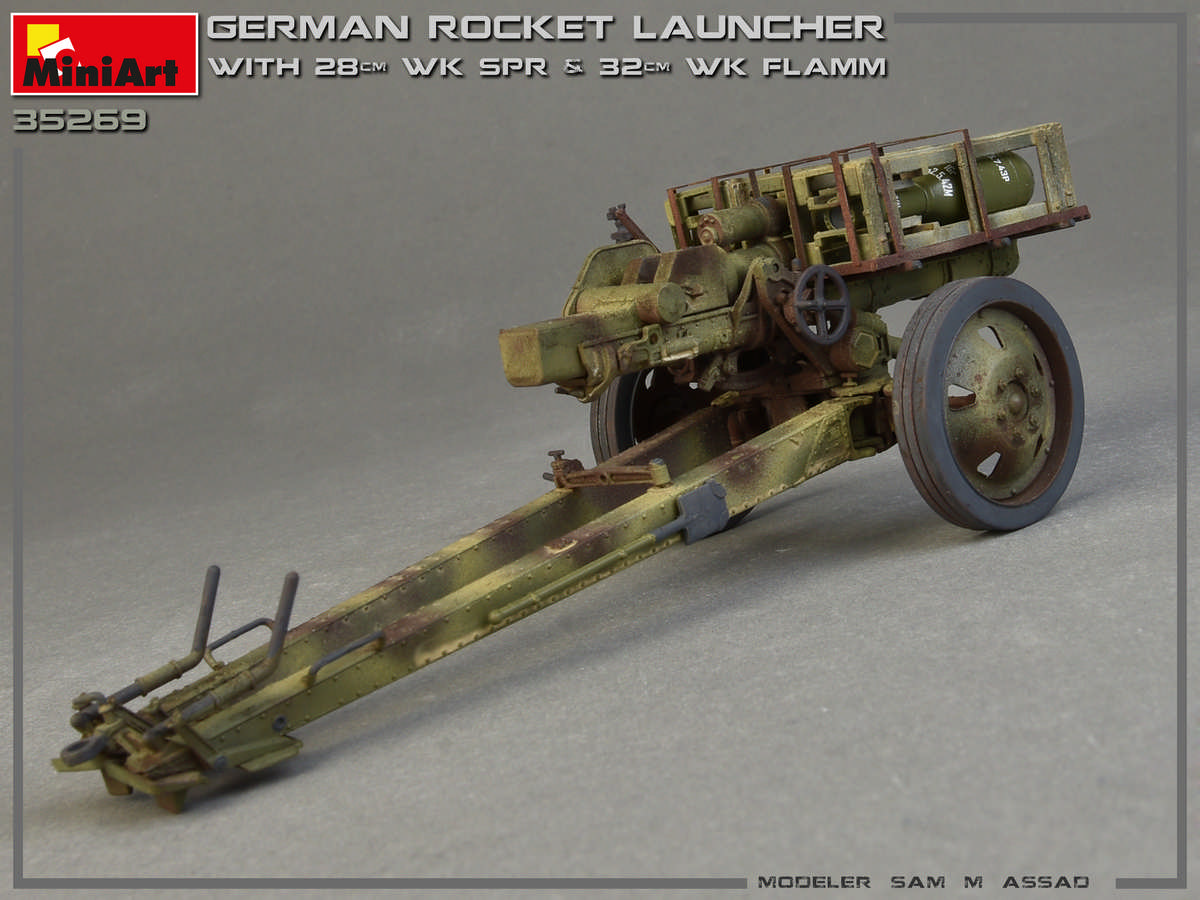 German rocket launcher with 28cm WK Spr /& 32cm WK Flamm 1//35 MiniArt # 35269 NEW