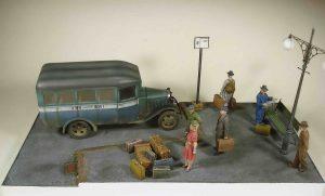 38005 PASSENGER BUS GAZ-03-30+ 35582 LUGGAGE SET 1930-40s + 35530 STREET ACCESSORIES + 38015 GERMAN CIVILIANS 1930's-1940's + Shkalik