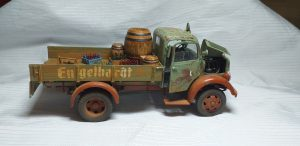 38014 GERMAN CARGO TRUCK L1500S + 36042 VILLAGE ROAD SECTION + Andrey Vavilkin