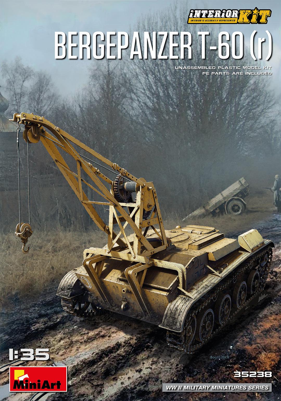 r interior kit Miniart 35238 Bergenpanzer T-60 Plastic Model Kit 1//35