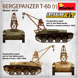 Side views 35238 BERGEPANZER T-60 ( r ) INTERIOR KIT