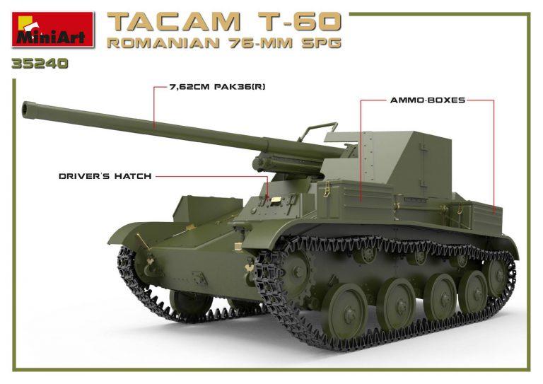 35240 TACAM T-60 ( r ) 罗马尼亚 76mm 自行火炮 带内购
