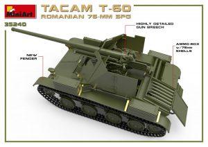 """3D renders 35240 РУМЫНСКАЯ 76-мм САУ """"TACAM"""" T-60 С ИНТЕРЬЕРОМ"""