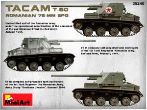 Side views 35240 ROMANIAN 76-mm SPG TACAM T-60 INTERIOR KIT