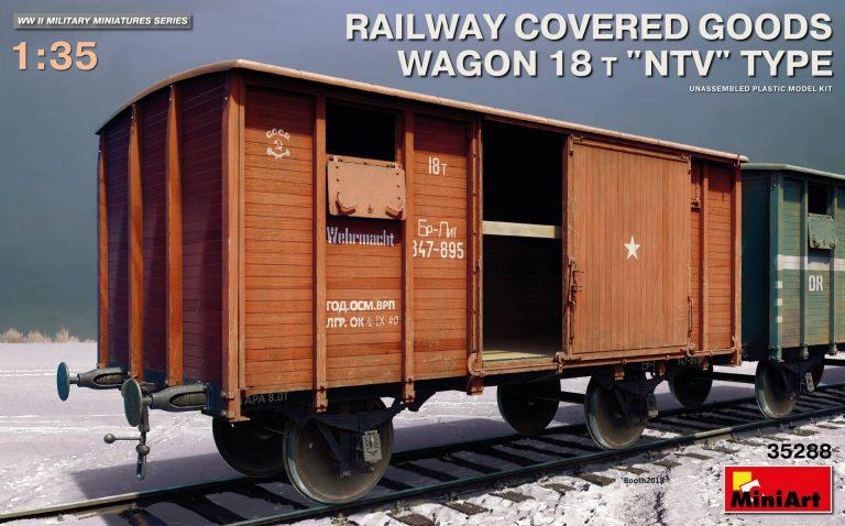 """35288 Eisenbahnwagon geschlossen 18t Typ """"NTV"""""""