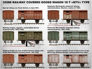 "Side views 35288 RAILWAY COVERED GOODS WAGON 18t ""NTV"" TYPE"