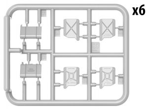 Content box 35588 GERMAN JERRY CANS SET WW2