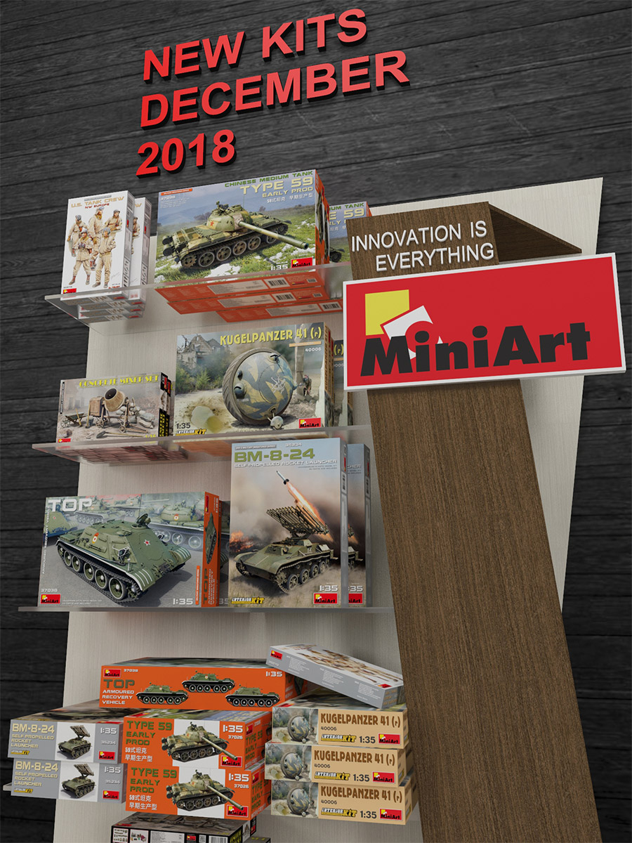 New MiniArt's Kits Available December 2018