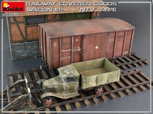 "35288 RAILWAY COVERED GOODS WAGON 18t ""NTV"" TYPE"