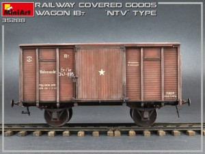 "Photos 35288 RAILWAY COVERED GOODS WAGON 18t ""NTV"" TYPE"
