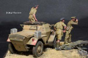 35067 DINGO Mk.1b BRITISH SCOUT CAR w/CREW + Shigeyuki Mizuno