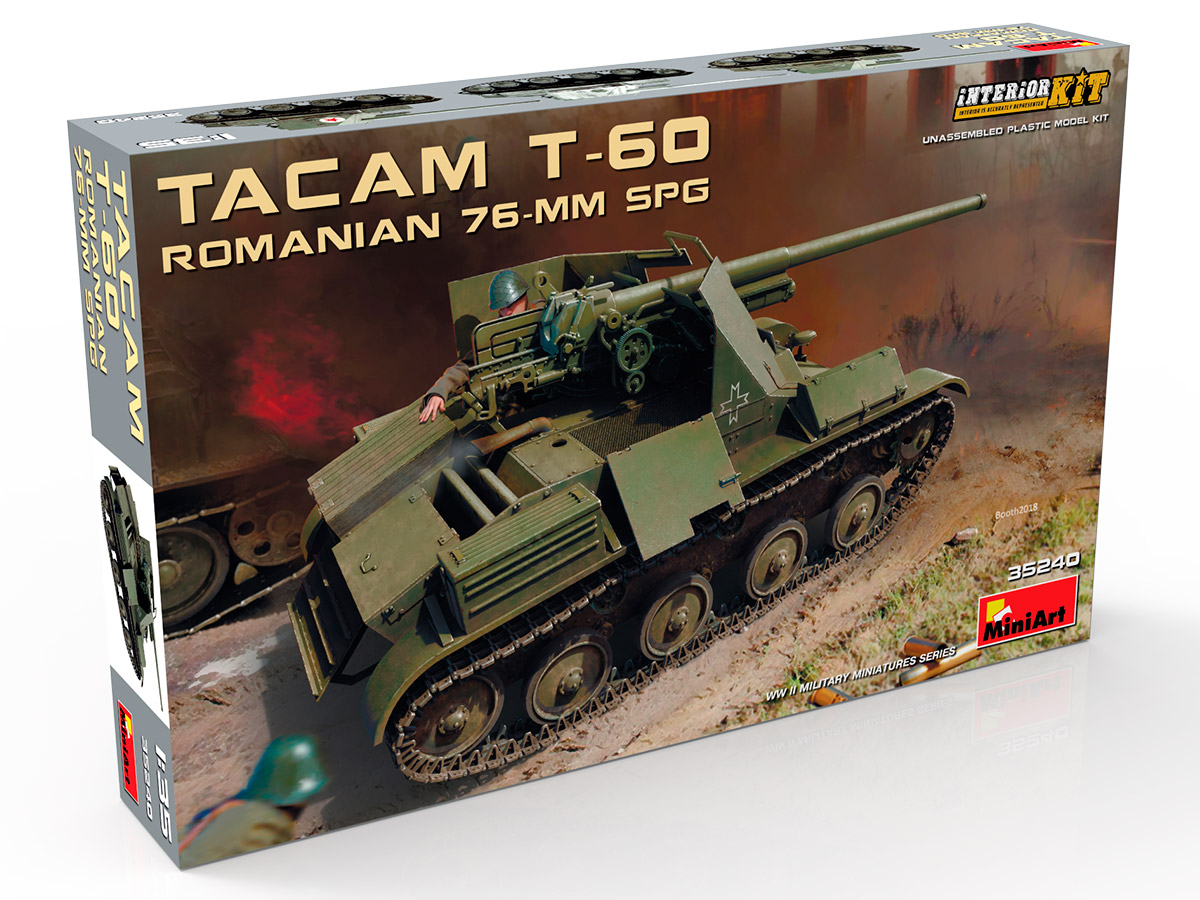 New Photos of Kit: 35240 ROMANIAN 76-mm SPG TACAM T-60 INTERIOR KIT