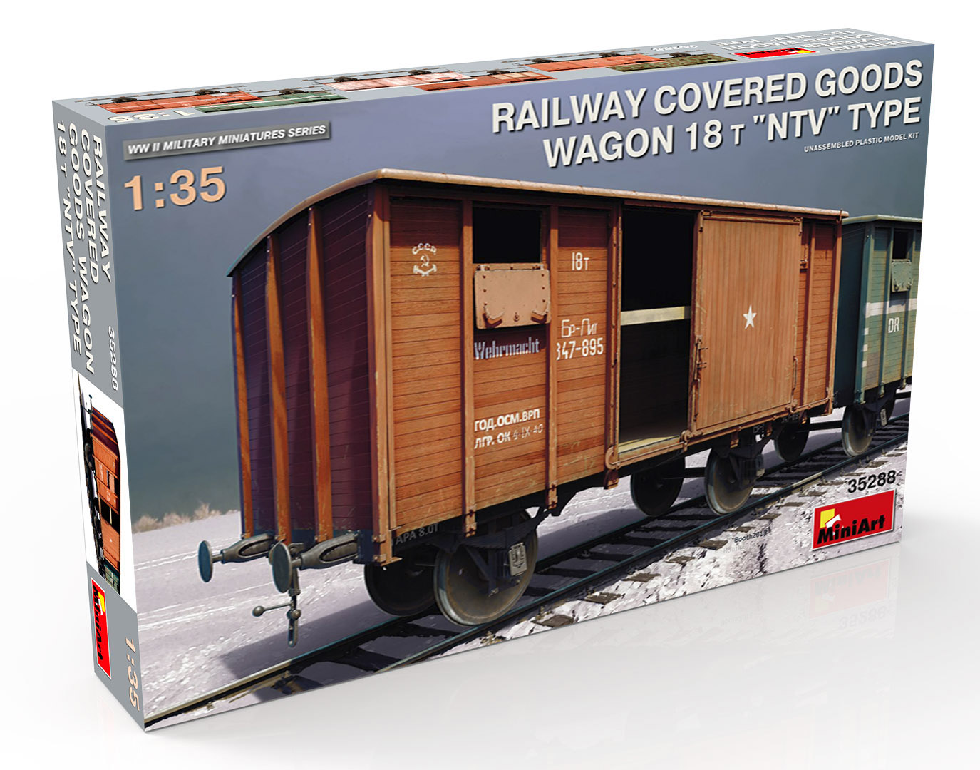 "New Photos of Kit: 35288 RAILWAY COVERED GOODS WAGON 18t ""NTV"" TYPE"