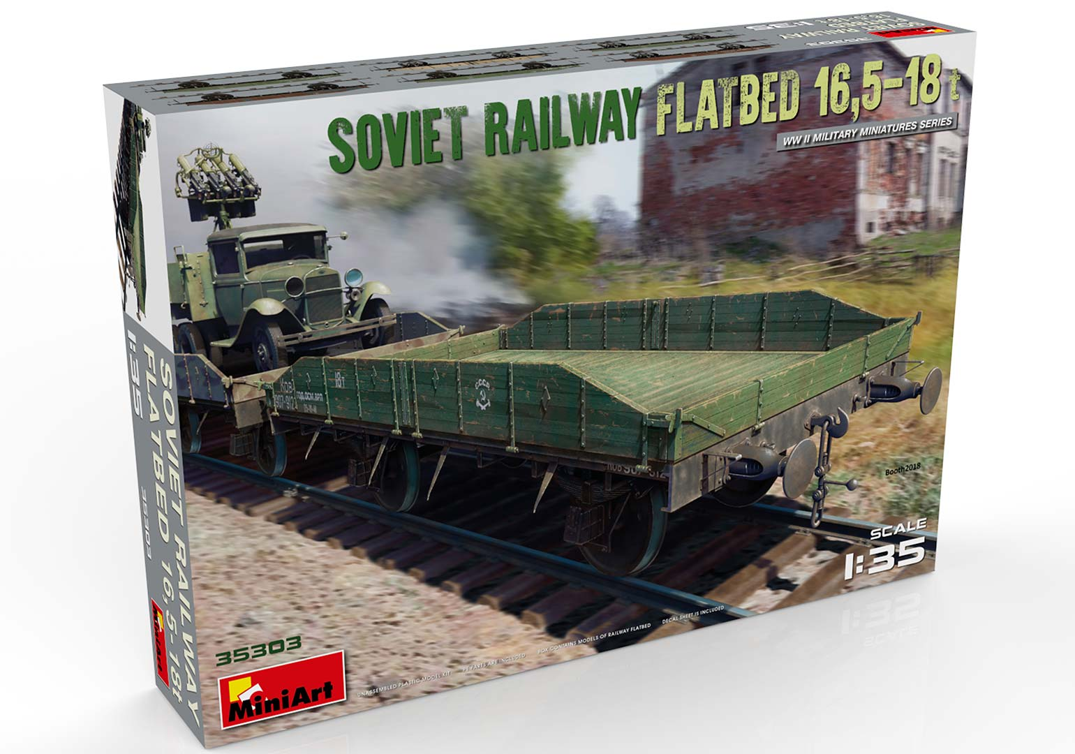 New Photos of Kit: 35303 SOVIET RAILWAY FLATBED 16,5-18t