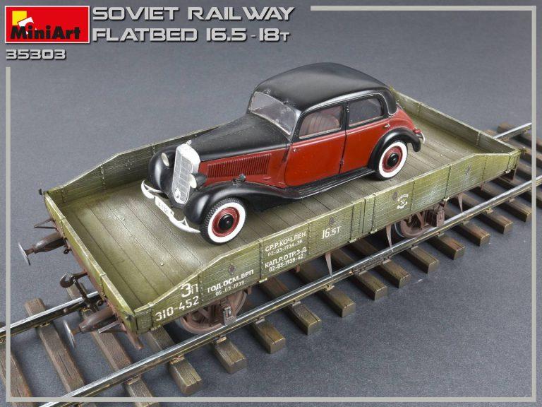 35303 Sowjetischer Eisenbahn Flachbettwagon 16,5-18t