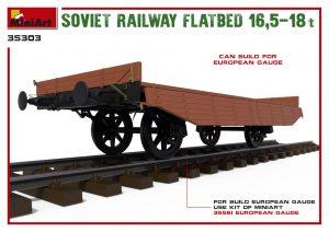 3D renders 35303 SOVIET RAILWAY FLATBED 16,5-18t