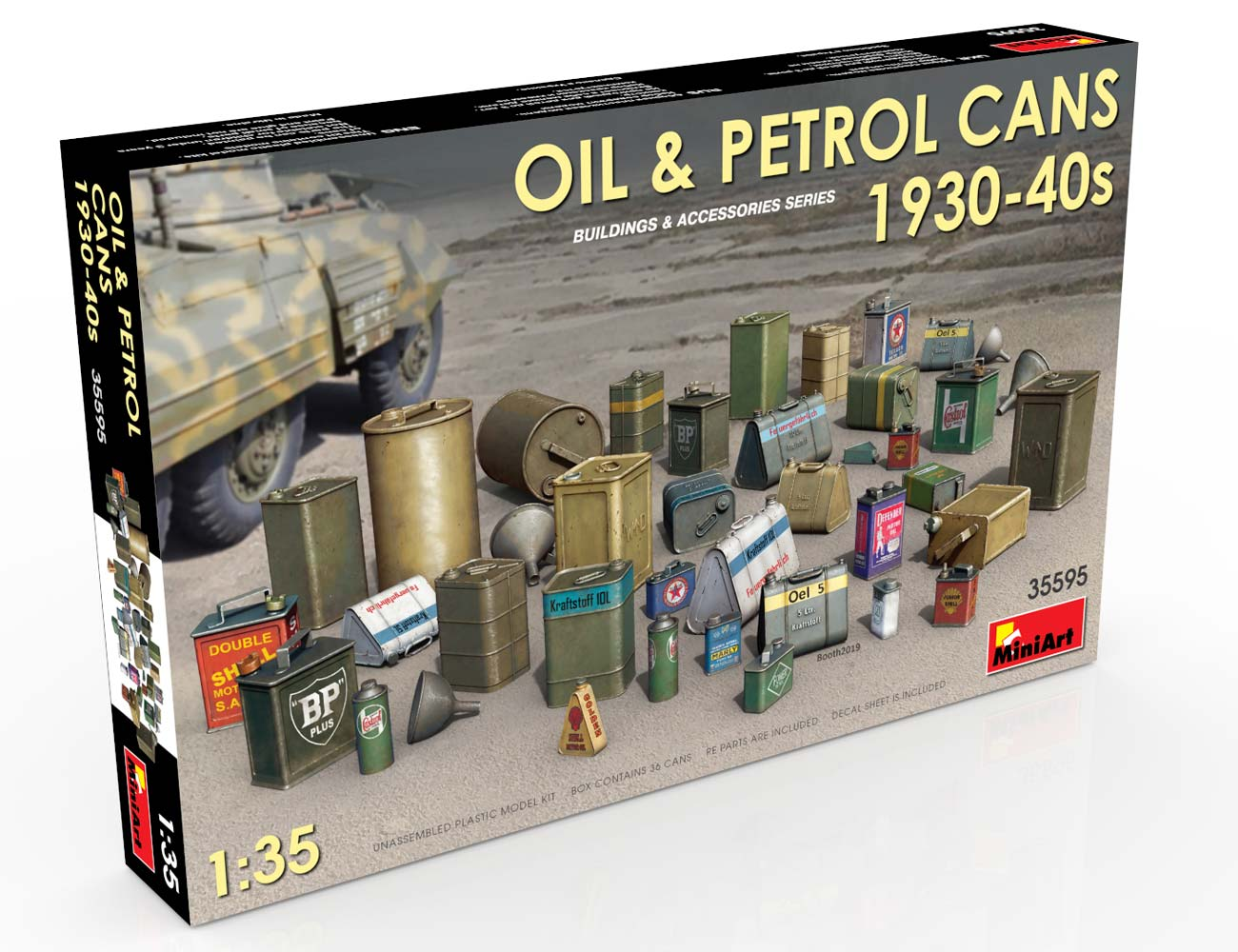 New Photos of Kit: 35595 OIL & PETROL CANS 1930-40s