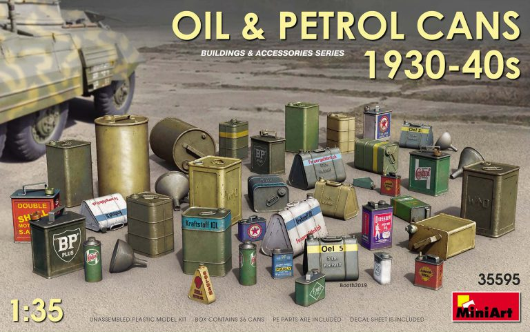 35595 OIL & PETROL CANS 1930-40s