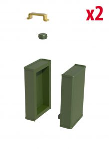 3D renders 35595 OIL & PETROL CANS 1930-40s