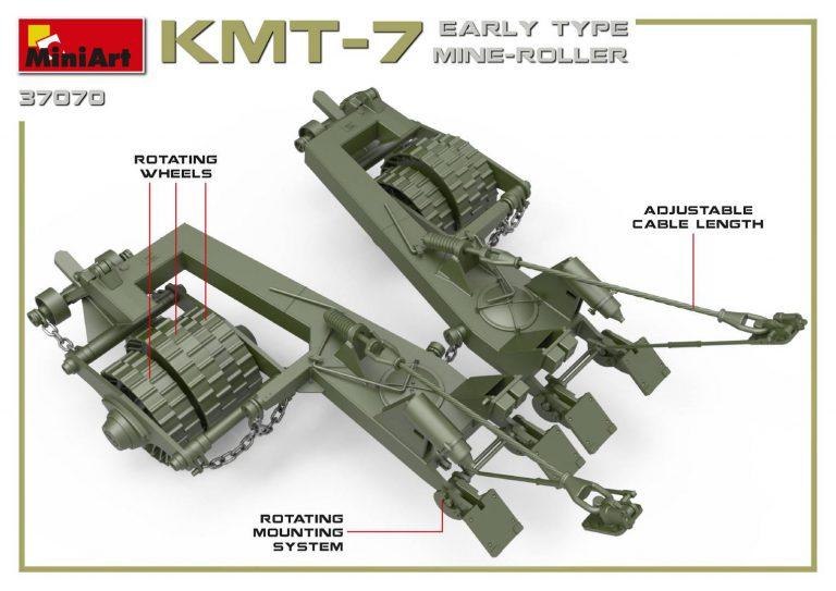 37070 KMT-7初期型地雷除去装置(マインローラー)