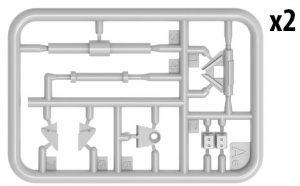 Content box 37070 KMT-7初期型地雷除去装置(マインローラー)