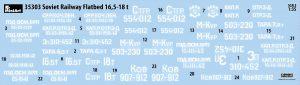 Content box 35303 SOVIET RAILWAY FLATBED 16,5-18t