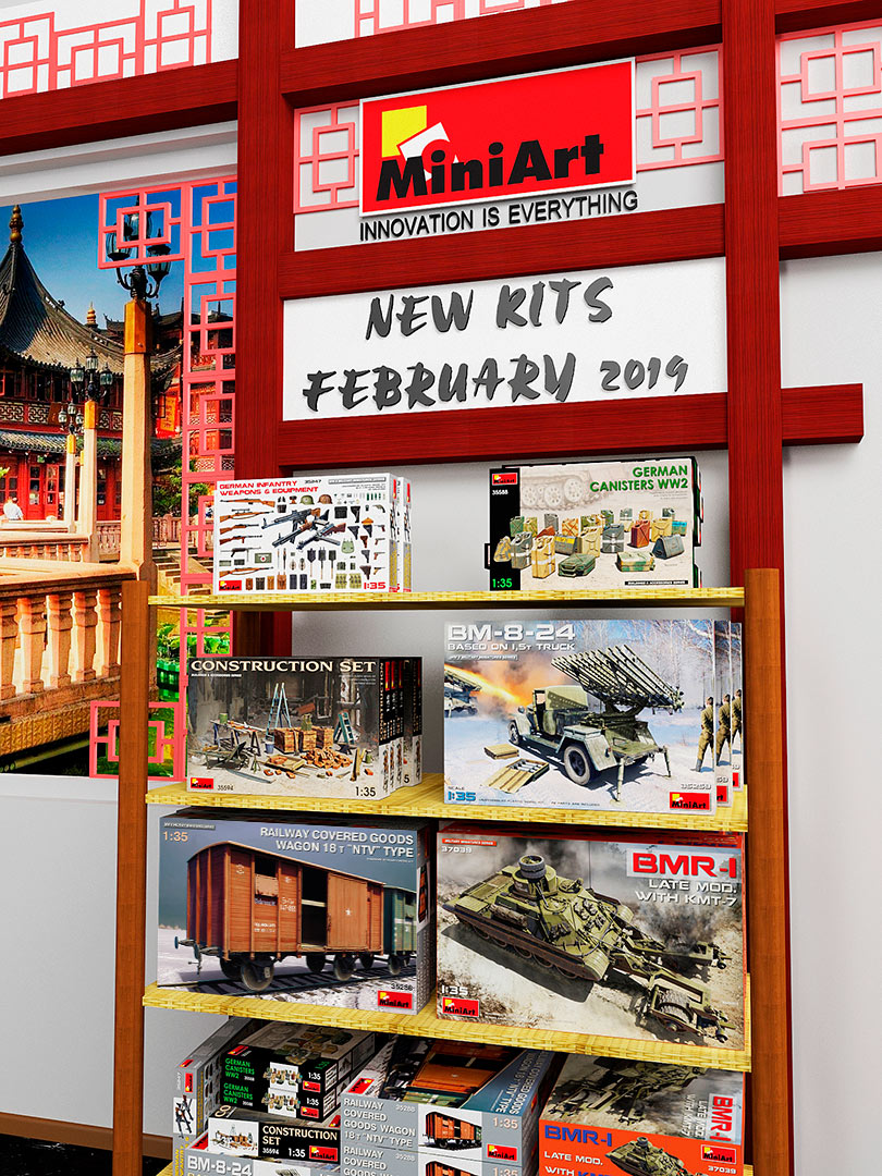 New MiniArt's Kits Available February 2019