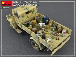 Photos 35595 OIL & PETROL CANS 1930-40s