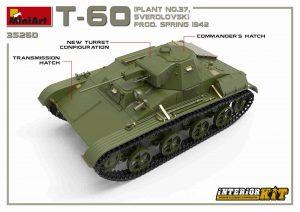 3D renders 35260  T-60 PLANT N.37, Swerdlowsk Prod. Frühling 1942 mit Innenausstattung