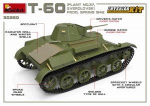 3D renders 35260 T-60轻型坦克(37号工厂,斯维尔德洛夫斯克) 1942年春型,带内购