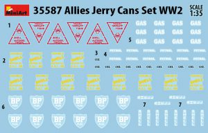 Content box 35587 ALLIES JERRY CANS SET WW2