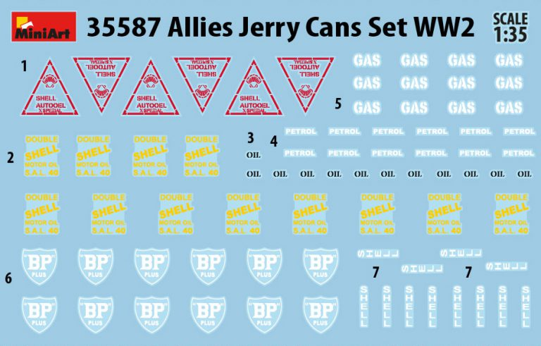 35587 ALLIES JERRY CANS SET WW2