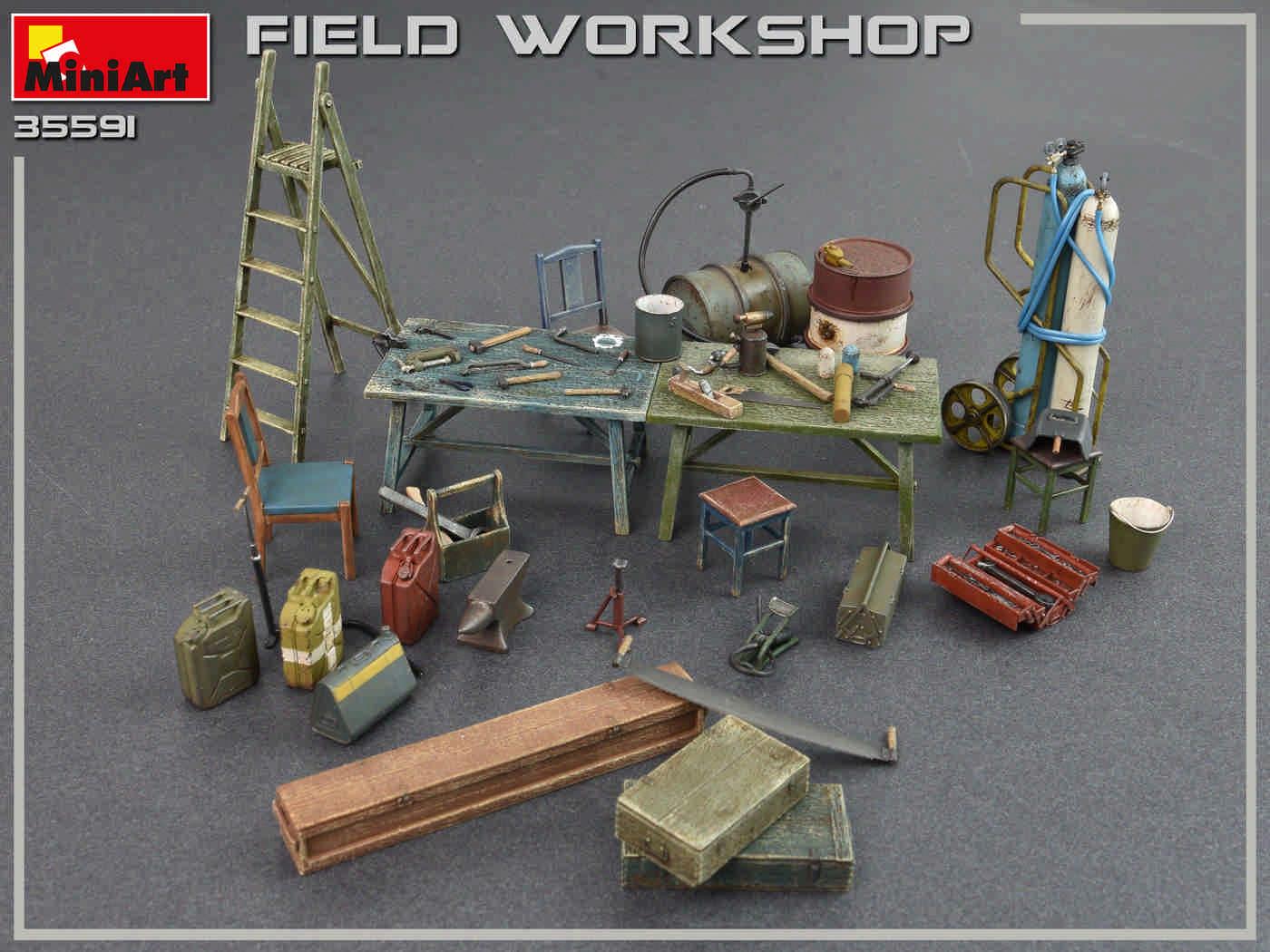 Accessories Set Officina Fiel Workshop kit MINIART 1:35 MA35591