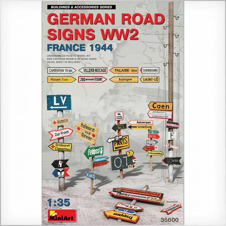GERMAN ROAD SIGNS WW2 (FRANCE 1944)