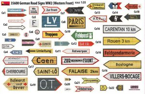 Content box 35600 GERMAN ROAD SIGNS WW2 (FRANCE 1944)