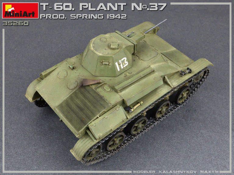 35260  T-60 PLANT N.37, Swerdlowsk Prod. Frühling 1942 mit Innenausstattung