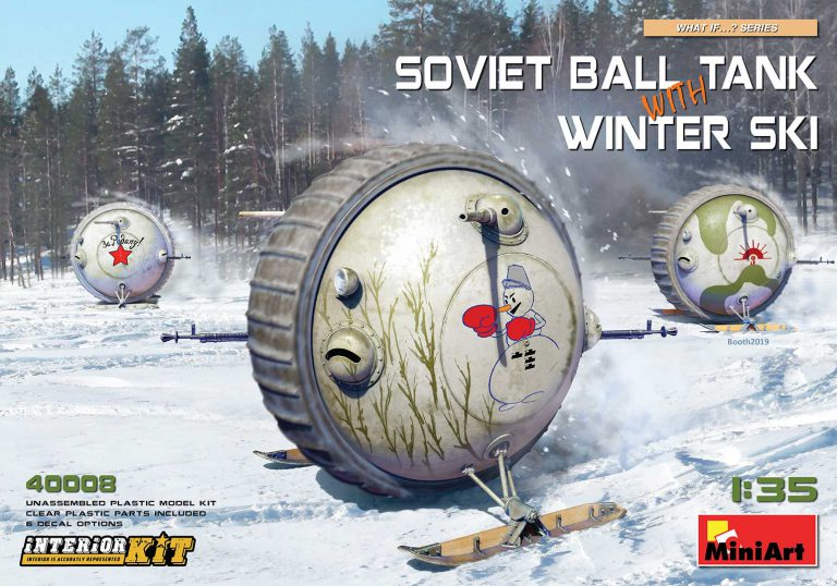 SOVIET BALL TANK w/ WINTER SKI. INTERIOR KIT